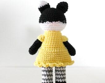 amigurumi, stuffed plush toy, cat kitty amigurumi, crochet kitten plushie .. callie