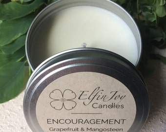 Grapefruit & Mangosteen ENCOURAGEMENT Soy Container Candle