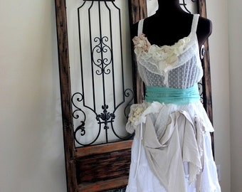 Offbeat Steampunk Alternative Wedding Dress, Funky, Dystopian Post Apocalyptic, Shabby Rustic Bride
