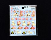 Cat Stickers -  Cherry Blossom Stickers - Flower Stickers - Japanese Stickers  - Traditional Japanese (S74)