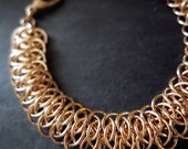 Viperscale Chainmaille Bracelet - Bronze Metal Chainmail - Ready to Ship - 10% loaned through Kiva.org