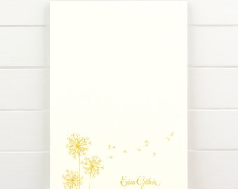 BREEZE Personalized Notepad - Dandelion Feminine Teacher Letterhead