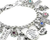 Mom Jewelry, Personalized Mother's Jewelry, Gift for Mom, Mom Birthday Gift, Mothers Day Gift, Hand Stamped Children's Names