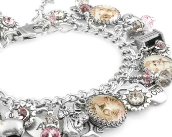 Personalized Baby Bracelet, Baby Jewelry, New Mom Jewelry, Custom Baby Bracelet, Your own Baby Photos, New Baby Gift, Baby Girl, Baby Boy