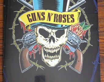 Vintage 1992 Guns N Roses Calendar Use Your Illusion Tour Collectible Rock and Roll Band Souvenir Memorabilia
