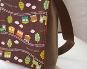 Enfant / Preschool Messenger Bag - Train aller aller (chocolat Orange)