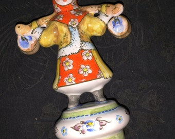 Russian Girl Porcelain Figurine