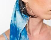 Circle Dangle Earrings...