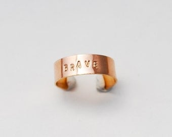 say it custom stamped ring