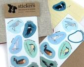 Waterproof Wetlands Birds Stickers--2 Sheets