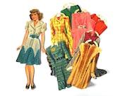 1940s Bette Davis Paper Doll Cut Ephemera Plus Clothing Merrill 1942 Original Hollywood Starlet Film Actress Movie Costume Make Believe Toys