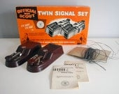 1940s Boy Scout Morse Code Twin Signal Set Plastic Instruments Vintage Electronic Toys Two Way Communications Retro Collectibles