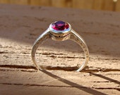 Half Off Going Out of Business Sale Size 7.5 Sterling Silver Ring with Ruby # 11