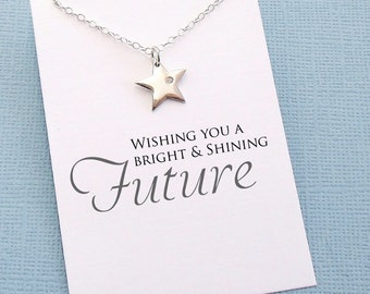 Graduation Gifts for Her | Inspirational Star Necklace, Graduation Gifts, Student Gifts, Class of 2017, Graduation Gifts, High School | G06