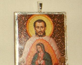 St Juan Diego Pendant Virgin of Guadalupe inv1701