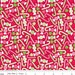 Christmas fabric, Cotton Fabric by the Yard by Riley Blake Fabrics- Home for the Holidays, Holiday Candy in Red- Fat Quarter