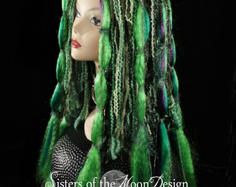 Hair falls forest fairy Tribal boho ren faire gothic belly dance cyber goth rave club vampire synthetic -Ready to Ship - Sisters of the Moon
