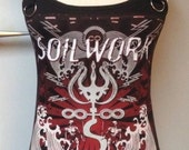 Soilwork shirt metal top heavy metal clothing reconstructed alternative apparel altered band tee t-shirt rocker chic
