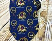 Vintage Necktie - Mens Gift Ideas - Ferragamo Tie - Gift for Father - Husband Gift - Fathers Day Gift - Groomsmen Gift - Designer Necktie