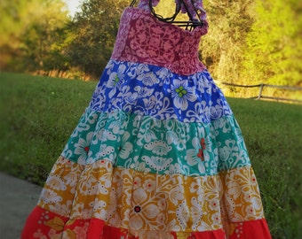 Girls Over the Rainbow Party Dress Tiered Twirl Birthday Party Somewhere Dress ROYGBIV Size 2 3