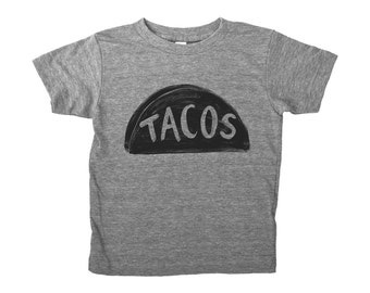 Taco T Shirt, christmas gift for kids funny tshirt, boy gift girl gift, unisex tween gift, taco graphic tee toddler gift, stocking stuffer