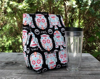 Insulated Lunch Bag Lunch Tote Star Wars Sugar Skull Droids Made To Order