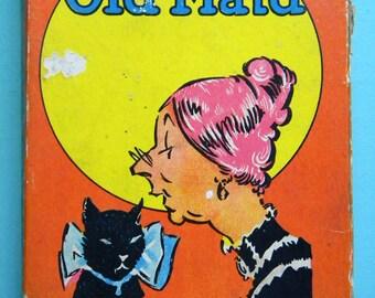 Vintage 1936 Old Maid Card Game Milton Bradley Complete Set of 41 Cards Flapper and Black Americana Interest