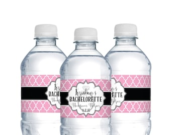 Wedding Water Bottle Labels NYC Skyline Wedding Welcome - Bachelorette water bottle label template