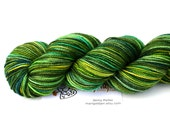 Leprechaun Lane--hand dyed sock yarn, 2ply merino and nylon, (400yds/100gm)