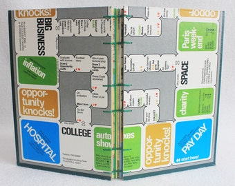 Careers Journal Recycled Game Board Book by PrairiePeasant