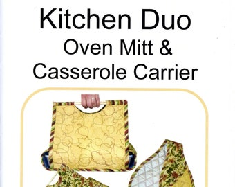 Great Copy Patterns Kitchen Duo Oven Mitt Casserole Carrier Uncut Sewing Pattern