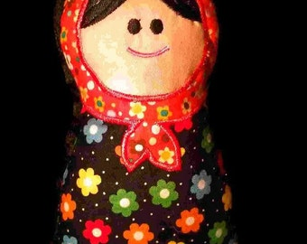 Babushka Baby Stuffed Art Doll