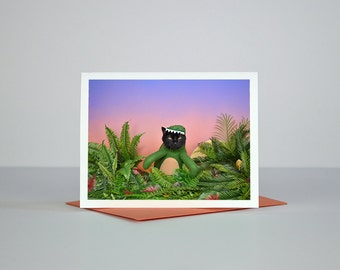 AC is a Dinosaur Greeting Card