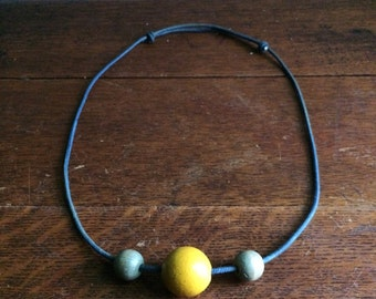 indigo assemblage necklace no. 1