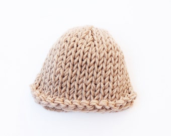 Light brown, newborn hat, boys newborn hat, baby boy hat, baby hat, newborn boy hat, baby boy, coming home outfit, knit baby hat