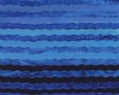Batik Purple to Blue Ombre Stripes Collection Anthology Fabrics 1 yard
