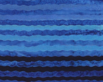 Batik Purple to Blue Ombre Stripes Collection Anthology Fabrics 1 yard
