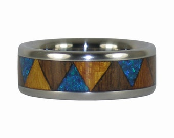 Osage and Walnut Wood Tribal Ring