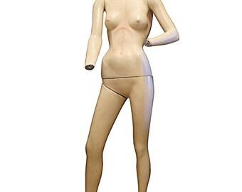 Retro Female Mannequin Model, Full Body Woman Window Display, Vintage Department Store Decor