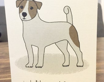 Jack Russell Terrier card any occasion dog gift birthday anniversary