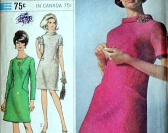 Misses' A-Line Dress, Simplicity Designer Fashion 7193 Sewing Pattern, Size 14, 34 Bust, Mad Men Mod