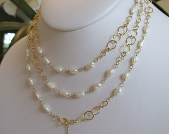 Freshwater Pearl Long Wrap Necklace