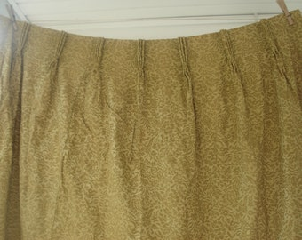 Gold damask curtains - 4 panels