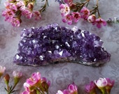 Amethyst Cluster - Amethyst Crystal - Raw Amethyst from Uruguay - Dark Purple Amethyst -Deep Purple Mineral Specimen
