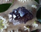 Elestial Smoky Quartz Amethyst Cluster - Elestial Amethyst Crystal - Elestial Smoky Quartz - Dark Purple Amethyst Skeletal Smokey Quartz