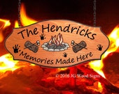 Family Name Sign - Extra Large size - Custom Campfire Log Marshmallows Carving - Your choice of graphic - Wood Sign - JGWOODSIGNS - ETSY