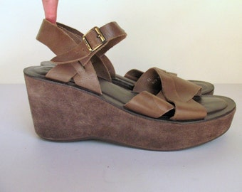 KORK EASE platform wedge sandals, 41, 10, 10.5