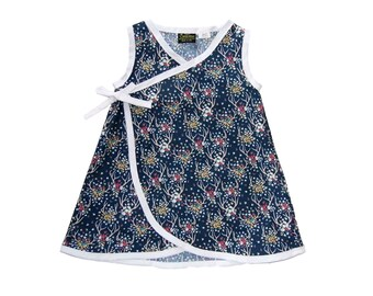 Antler And Roses - Deer Clothes - Navy Dress - Toddler Dress - Rockabilly Clothes - Blue Floral - Girl Dress - Girls Clothes - 4T - 5T - 6