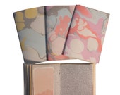 Marbled Notebook Journal - Set of Six - Salvaged Papers - Assorted - Free Shipping