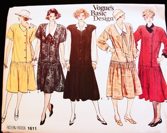 Maternity Dress Pattern Misses size 12 14 16 Vogue Basic Design Pattern Womens Maternity Top and Jumper Pattern